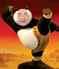 In this photomontage will appear as the child star of the movie Kung Fu Panda
