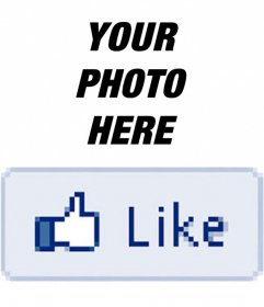 Photo effect in which you can put a Facebook Like to your picture.