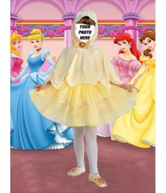 Photo effects little princess child costume
