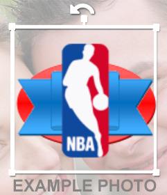 Basketball sticker with the NBA logo