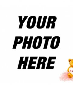 Put a loving detail and decorate your picture with the teddy bear holding a heart. Ideal for preparing a photo for this Valentine's Day gift.