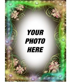 Magic photo frame spring green to do with your photo.