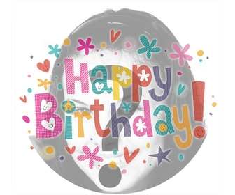 Decorate your profile picture with colors and the phrase HAPPY BIRTHDAY