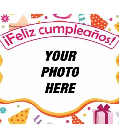 Postcard to congratulate a birthday with your favorite photo.