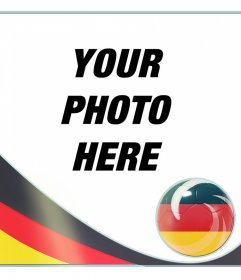 Photo frame with the flag of Germany to put in your photos