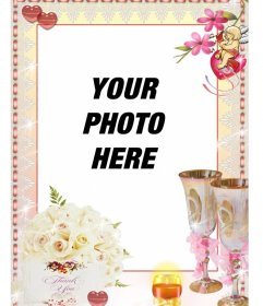 Photo frame with your photographs to thank someone