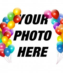 Colorful balloons to decorate your photos as a photo frame and free