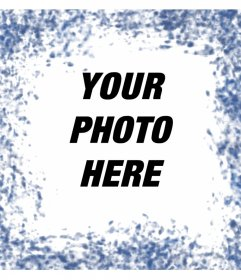 Blue spots around your photos with this photo effect