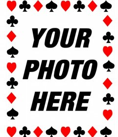 Photo frame with symbols of poker cards