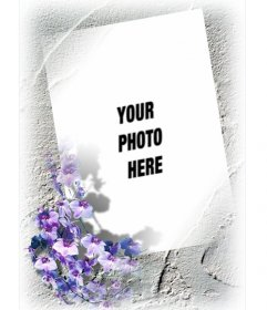 Photo frame for a photo with a border of flowers that you can do ...