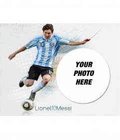 Photomontage with Messi