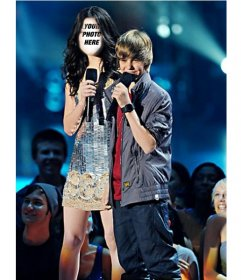 Photomontage of Miranda Cosgrove and Justin Bieber to do online