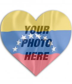 Photo montage of Venezuela heart shaped flag to put on your profile picture