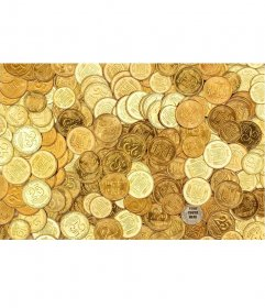 Game photos to find your image on a pile of coins