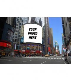 Photomontage to put your photo on a billboard of a New york street