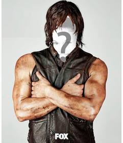 Photomontage to put your face in Daryl Dixon of Thewalking Dead