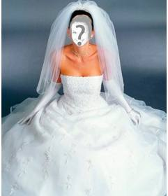 Wedding Dress up with this photomontage. White.