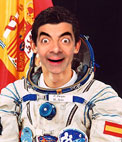 Photo effect to put your face on the body of Pedro Duque, Spanish astronaut wearing a space suit.
