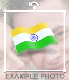 Flag of India waving to paste in your images