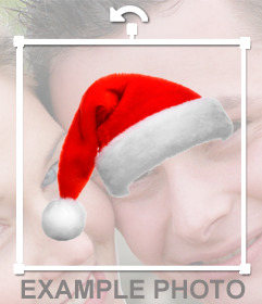 Wear a hat santa claus in your photo.