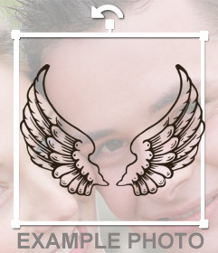 Tattoo Sticker With Angel Wings To Paste On Your Photos