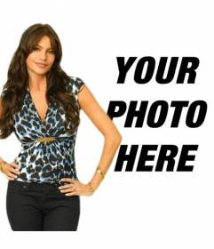 "Photomontage with Sofia Vergara of Modern Family TV Show. Now you can appear in a photo with the actress and Colombian model considered one of the world""s sexiest women"