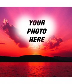 Download Photo montage effect of photo frame hearts