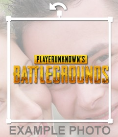 Put the Player Unknown battlegrounds logo on your photo