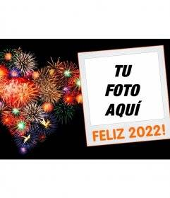 Frame for new year 2018 photos with a polaroid