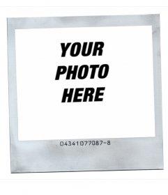 Photo frame Polaroid style with white background