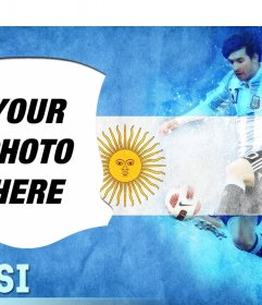 Put your picture next to Leo Messi with this online editor