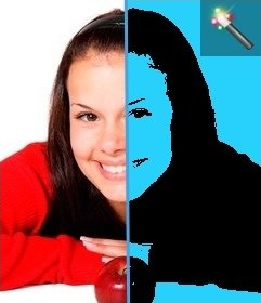 Mounting Pop Art style photos with blue background. Perfect for your profile pictures.