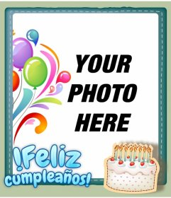 Photomontage of easy editing, free web, to make a greeting card.