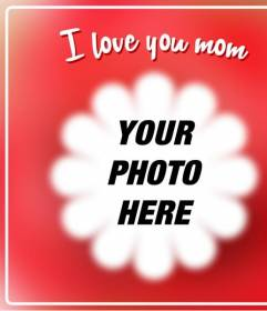 Postcard For Mothers Day To Put A Picture With A Flower Shaped Frame