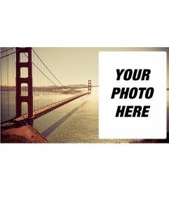 Postcard with the Golden Gate Bridge
