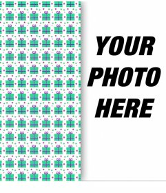 Photo effect to decorate your picture with a wrapping paper