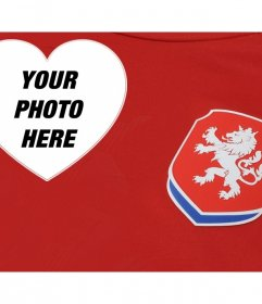 Supports the football team of Czech Republic with this editable photomontage