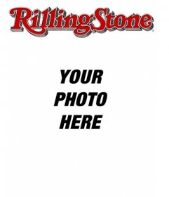 custom magazine cover templates - rolling stone cover customizable with your photo edit the