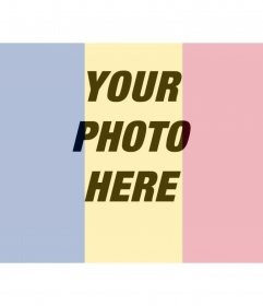Draw the ROMANIA flag on a photo