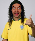 Photomontage to be Ronaldinho's with Brasil jersey