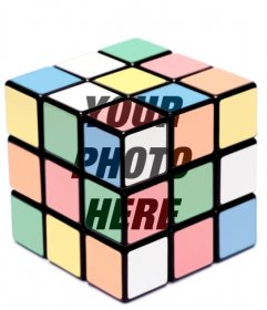 """Effect for photos rubik cube to put your photo inside a Rubik""""s cube"""