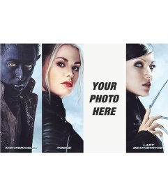 Photomontage with characters from X-Men