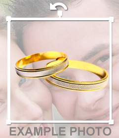 Put wedding rings in your photo with this online sticker