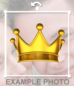 Put a gold crown of King in your photos as a decorative sticker