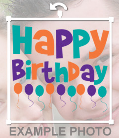 Sticker of Happy Birthday to put on your photos