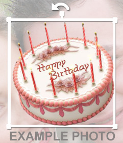 Sticker online of a birthday cake to insert into your images