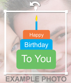 Clip art of a birthday cake to paste as sticker in your photos