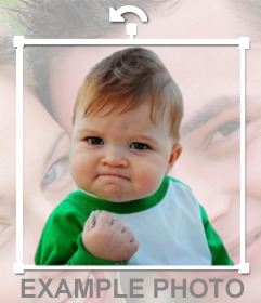 Meme success kid to put in your online photos like a sticker.