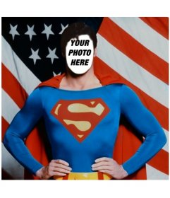 Become Superman with this photomontage to edit with your photo