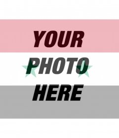 Photomontage of the Syrian flag for your photo
